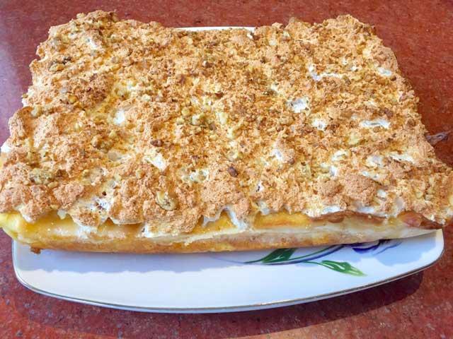 Абрикосовый пирог готов