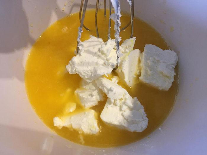 Сырное печенье с апельсинами и шоколадом