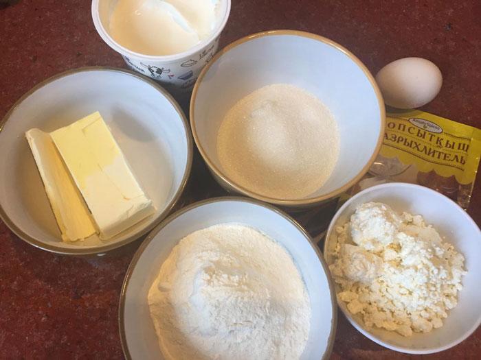 Творожное печенье с апельсиновым джемом