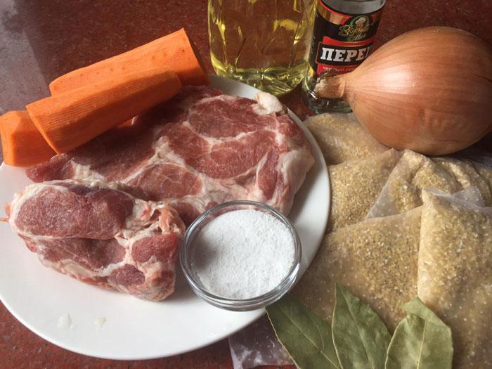 Ячневая каша с мясом